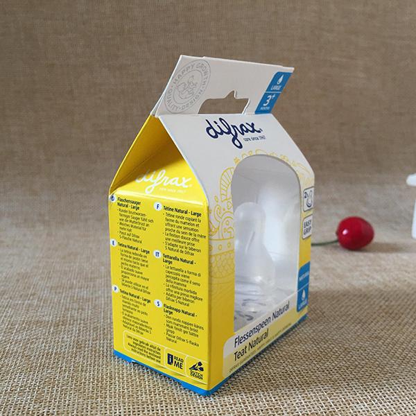 奶嘴产品包装胶盒